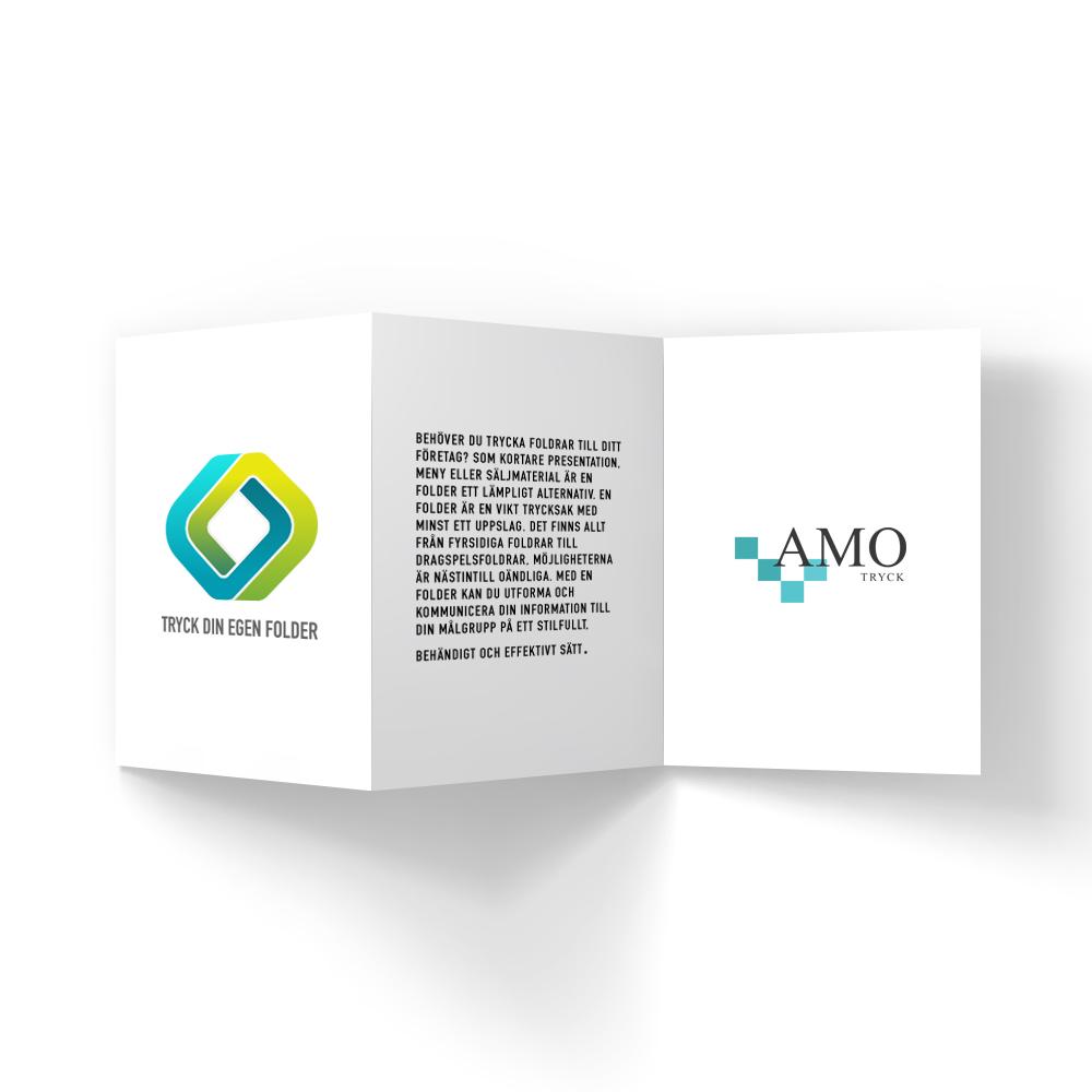 Trycka folder - AMO-Tryck