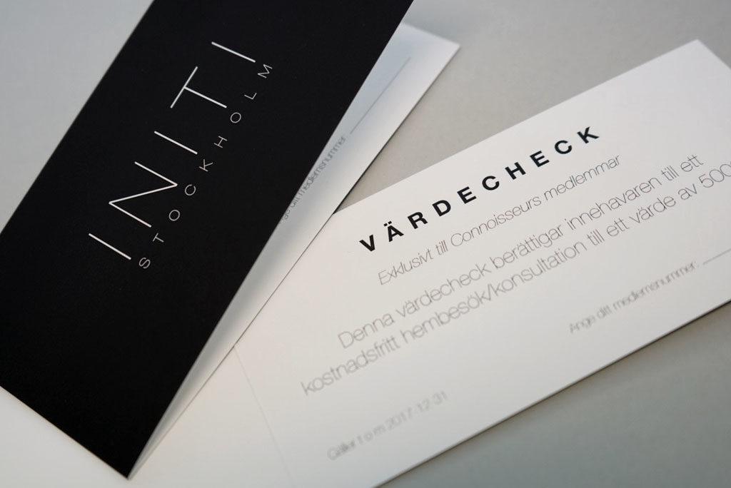 AMO-Tryck - Trycka värdecheck till Initi Stockholm